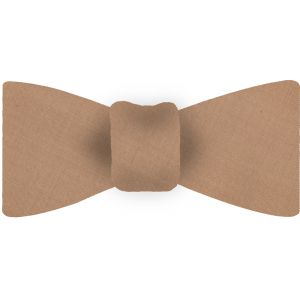 Tan Shot Thai Silk Bow Tie #35