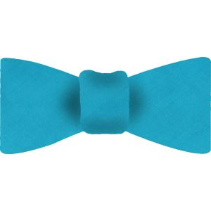 Ocean Blue Shot Thai Silk Bow Tie #38