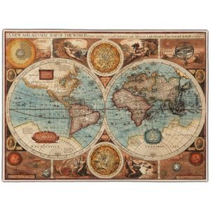 Ancient Map Pocket Rectangle #1B