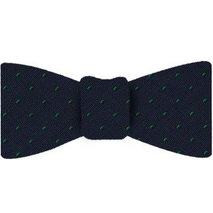 Celtic Green Dots on Midnight Blue Pin-Dot Silk Bow Tie #EPDBT-13