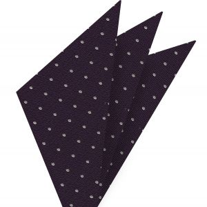 White Dots on Purple Pin-Dot Silk Pocket Square #EPDP-9