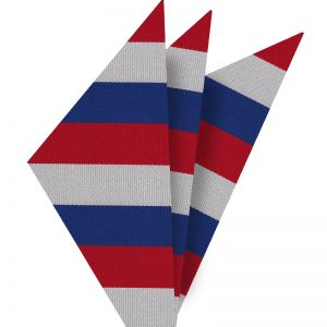 Red, White & Blue American Stripes Pocket Square #AMP-2