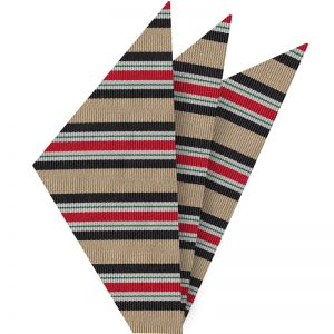 Iraqi Campaign Medal Silk Pocket Square #AMP-5 (Black, Gold, Off-White, Green & Red)