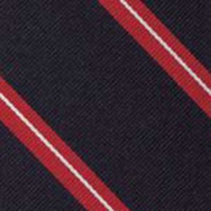 Keble College Oxford Stripe Silk Pocket Square #UKUP-9