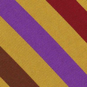 Lavender, Burgundy, Olive Green, Orange & Fuchsia on Yellow Gold Reppe Stripe Silk Pocket Square #RSP-7