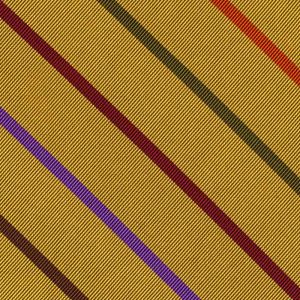 Lavender, Burgundy, Olive Green, Orange & Fuchsia on Yellow Gold Reppe Stripe Silk Pocket Square #RSP-8