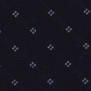Powder Blue on Midnight Blue Pattern Wool Pocket Square #GPWP-2