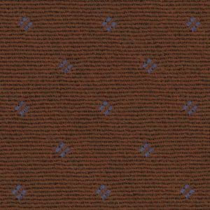 Sky Blue on Rust Pattern Wool Pocket Square #GPWP-5