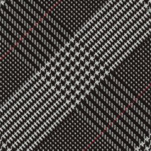 Black & White Large Prince Of Wales Silk Pocket Square #PWP-3