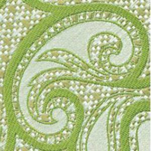 Silver & Brown with Light Green Paisley Silk Pocket Square #EPAP-1