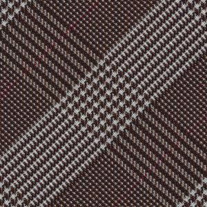 Dark Brown Large Prince Of Wales Silk Pocket Square #PWP-2