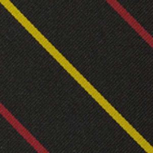 St John College Oxford Stripe Silk Pocket Square #UKUP-2