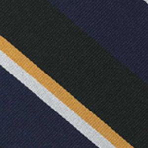 St Hugh College Oxford Stripe Silk Pocket Square #UKUP-3