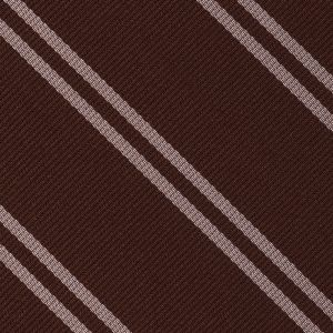 Churchill College Cambridge Stripe Silk Pocket Square #UKUP-32