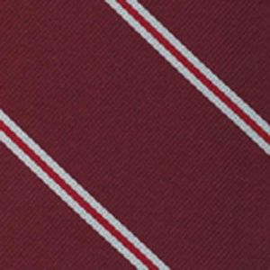 Hertford College Oxford Stripe Silk Pocket Square #UKUP-8