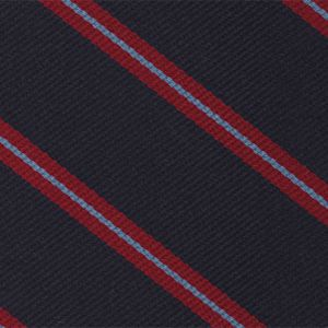Indian Army Ordinance Corps Stripe Silk Pocket Square #RGP-21
