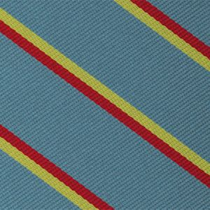3rd The Kings Own Hussars Stripe Silk Pocket Square #RGP-38