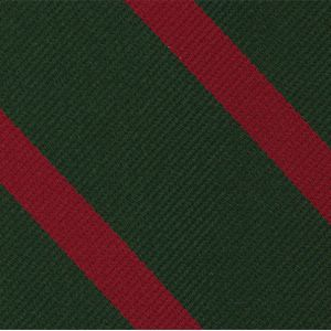 60th Foot the King's Royal Rifle Corps Stripe Silk Pocket Square #RGP-42