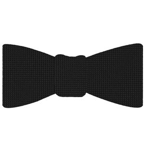 Black Diamond Weave Silk Bow Tie #DBT-1