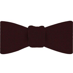 Black/Red Diamond Weave Silk Tie #13