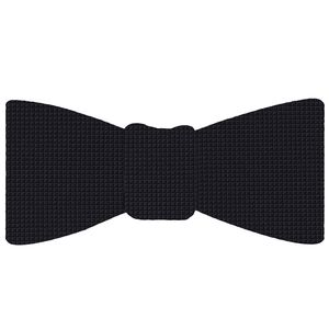 Midnight Blue Diamond Weave Silk Bow Tie #DBT-2