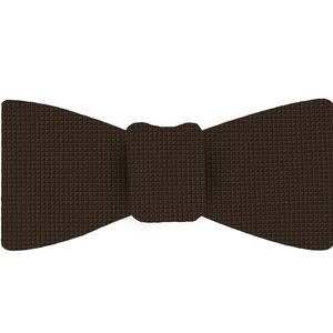 Dark Chocolate Diamond Weave Silk Bow Tie #DBT-21