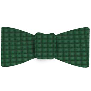 Bottle Green Diamond Weave Silk Bow Tie #DBT-8