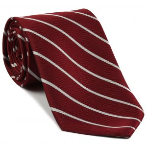 Harvard University Silk Tie #25 - Crimson & White