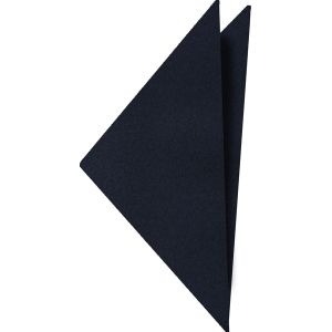 Dark Navy Satin Silk Pocket Square