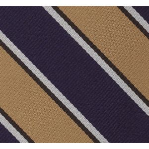 Assam Valley Light Horse Stripe Silk Tie # 35