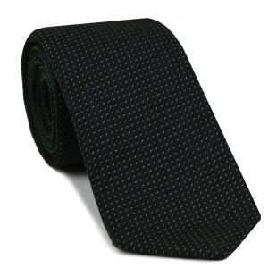 Bottle Green on Midnight Blue Grenadine Pin Dot Silk Tie #5