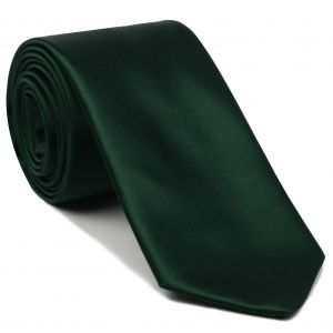 Forest Green Satin Silk Tie #15