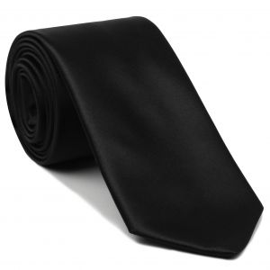 Black Satin Silk Tie #5