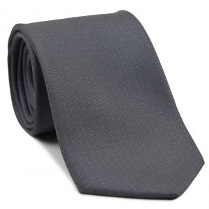 Light Pink on Charcoal Gray Macclesfield Printed Silk Tie #MCPDT-18