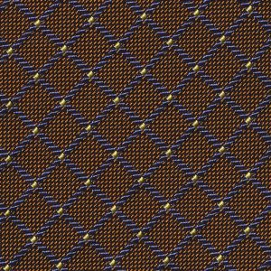 Light Blue / Navy Blue / Gold & Light Yellow Pattern Silk Tie # 23