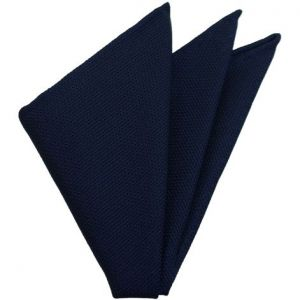Soft Navy Grenadine Pocket Square #GFP-11