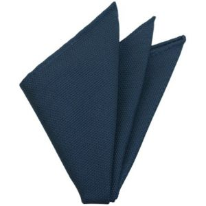 Slate Blue Grenadine Fina Silk Pocket Square # 12