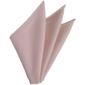 Pink/Silver Grenadine Fina Silk Pocket Square # 25