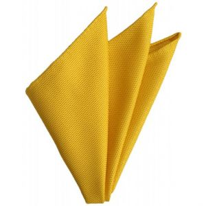 Yellow Gold Grenadine Fina Silk Pocket Square # 29