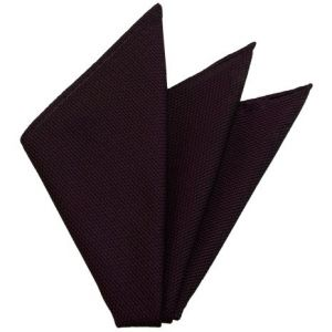 Dark Purple/Black Grenadine Fina Silk Pocket Square # 35