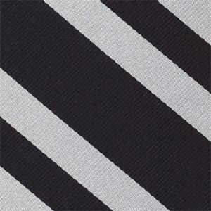 Oriel College Oxford Stripe Silk Tie # 14 - Silver on Black
