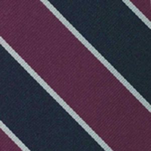 Balliol College Silk Tie # 6Balliol College Stripe Silk Tie # 6 - White & Purple on Navy Blue