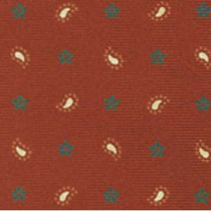 Orange / White & Charcoal Gray on Burnt Orange Macclesfield Printed Silk Tie # 182