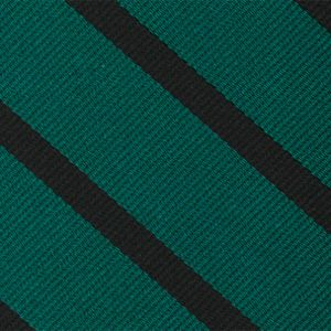 Royal Ulster Rifles Stripe Silk Tie #RGT-47   Black on Shamrock Green