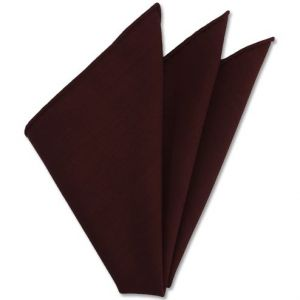 Dark Red Solid Challis Wool Pocket Square # 3