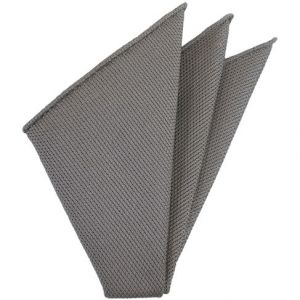 Gray Piccola Grenadine Silk Pocket Squares # 13