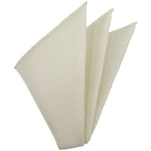 White Piccola Grenadine Silk Pocket Squares # 15
