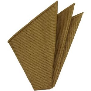 Dark Gold Piccola Grenadine Silk Pocket Squares # 17