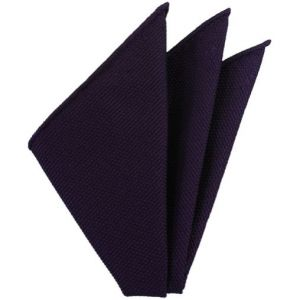 Dark Purple Piccola Grenadine Silk Pocket Squares # 19