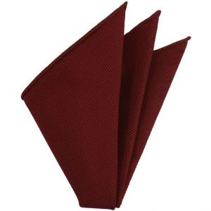 Red Piccola Grenadine Silk Pocket Squares # 1